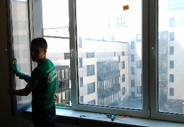 уборка в новой квартире