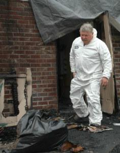 уборка помещения после пожара