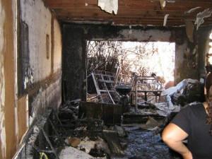 уборка после пожара в помещении